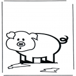 Disegni da colorare Animali - Maialino