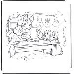Disegni da colorare Vari temi - Mamma Coniglio 1