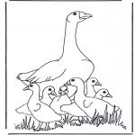 Disegni da colorare Animali - Mamma oca