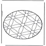 Disegni da bucherellare - Mandala 1
