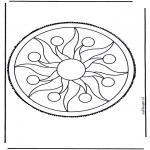 Disegni da bucherellare - Mandala 2