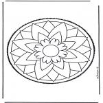 Disegni da bucherellare - Mandala 3