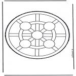 Disegni da bucherellare - Mandala 4