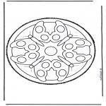 Disegni da bucherellare - Mandala 5