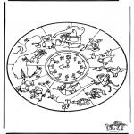 Disegni da colorare Mandala - Mandala - animali 1