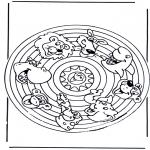 Disegni da colorare Mandala - Mandala - animali 2