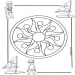 Disegni da colorare Mandala - Mandala bambini 1