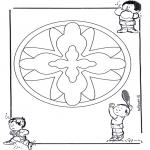 Disegni da colorare Mandala - Mandala bambini 16