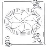 Disegni da colorare Mandala - Mandala bambini 19