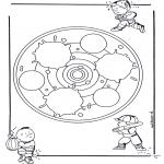 Disegni da colorare Mandala - Mandala bambini 24