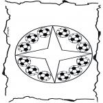Disegni da colorare Mandala - Mandala calcio