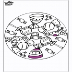 Disegni da colorare Mandala - Mandala - Cioccolata e lecca lecca