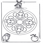 Disegni da colorare Mandala - Mandala clown