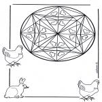 Disegni da colorare Mandala - Mandala cuori 3