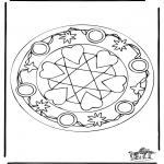 Disegni da colorare Mandala - Mandala cuori 5