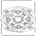 Disegni da colorare Vari temi - Mandala del fungo 1