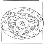 Disegni da colorare Vari temi - Mandala del fungo 2