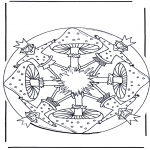 Disegni da colorare Mandala - Mandala del fungo