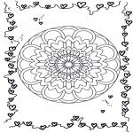 Disegni da colorare Temi - Mandala dellamore
