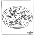 Disegni da colorare Mandala - Mandala farfalla