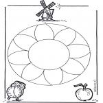 Disegni da colorare Mandala - Mandala - fiori 1