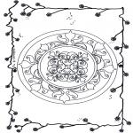 Disegni da colorare Mandala - Mandala - fiori 6