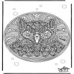Disegni da colorare Mandala - Mandala gufo