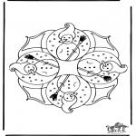 Disegni da colorare Inverno - Mandala - inverno 4