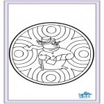 Disegni da colorare Inverno - Mandala - inverno 6