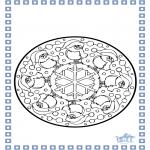 Disegni da colorare Inverno - Mandala - inverno