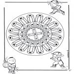 Disegni da colorare Mandala - Mandala mattite