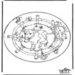 Disegni da colorare Mandala - Mandala mucca