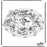 Disegni da colorare Mandala - Mandala orso