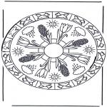 Disegni da colorare Mandala - Mandala primaverile