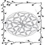 Disegni da colorare Mandala - Mandala quadrifoglio