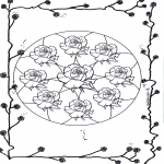Disegni da colorare Mandala - Mandala - rose 2