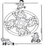 Disegni da colorare Mandala - Mandala scimmia