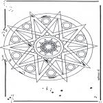 Disegni da colorare Mandala - Mandala - stelle 1