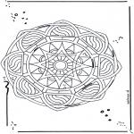 Disegni da colorare Mandala - Mandala - stelle 2