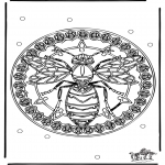 Disegni da colorare Mandala - Mandala vespa