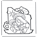 Disegni biblici da colorare - Maria e Gesù