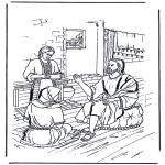 Disegni biblici da colorare - Maria e Marta 1