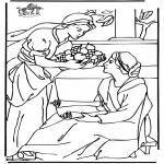 Disegni biblici da colorare - Maria e Marta 2