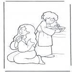 Disegni biblici da colorare - Marta e Maria