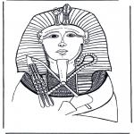 Disegni da colorare Vari temi - Maschera mortuaria