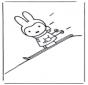 Miffy sugli sci