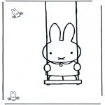Disegni per i piccini - Miffy sullaltalena