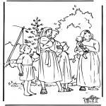Disegni biblici da colorare - Mosè 1