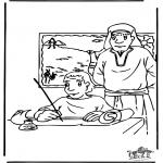 Disegni biblici da colorare - Mosè 3