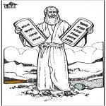 Disegni biblici da colorare - Mosè 4